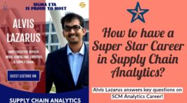 Alvis Lazarus answers Supply Chain Analytics Career related Key Questions | IIM Tiruchy SigmaEta