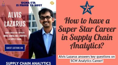 Supply Chain Analytics CareerSIGMA ETA IIM  Tiruchy
