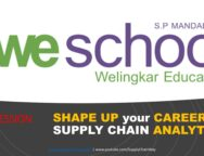 WeSchool (Welingkar Institute of Management) Supply Chain Analytics Career Session by Alvis Lazarus