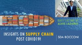 Supply Chain Tools for Post Covid19 Transformation | Guest Lecture by Alvis Lazarus at SDA Bocconi