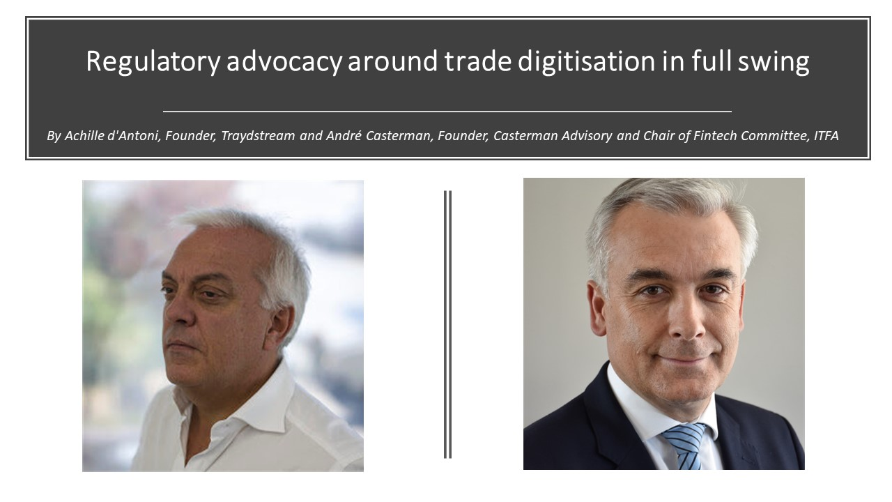 Regulatory advocacy around trade digitisation in full swing