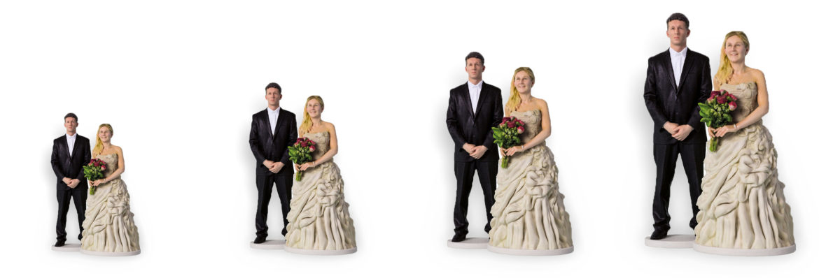 my3Dtwin, 3D Printed Wedding Cake Topper Price Basic Small Medium Large