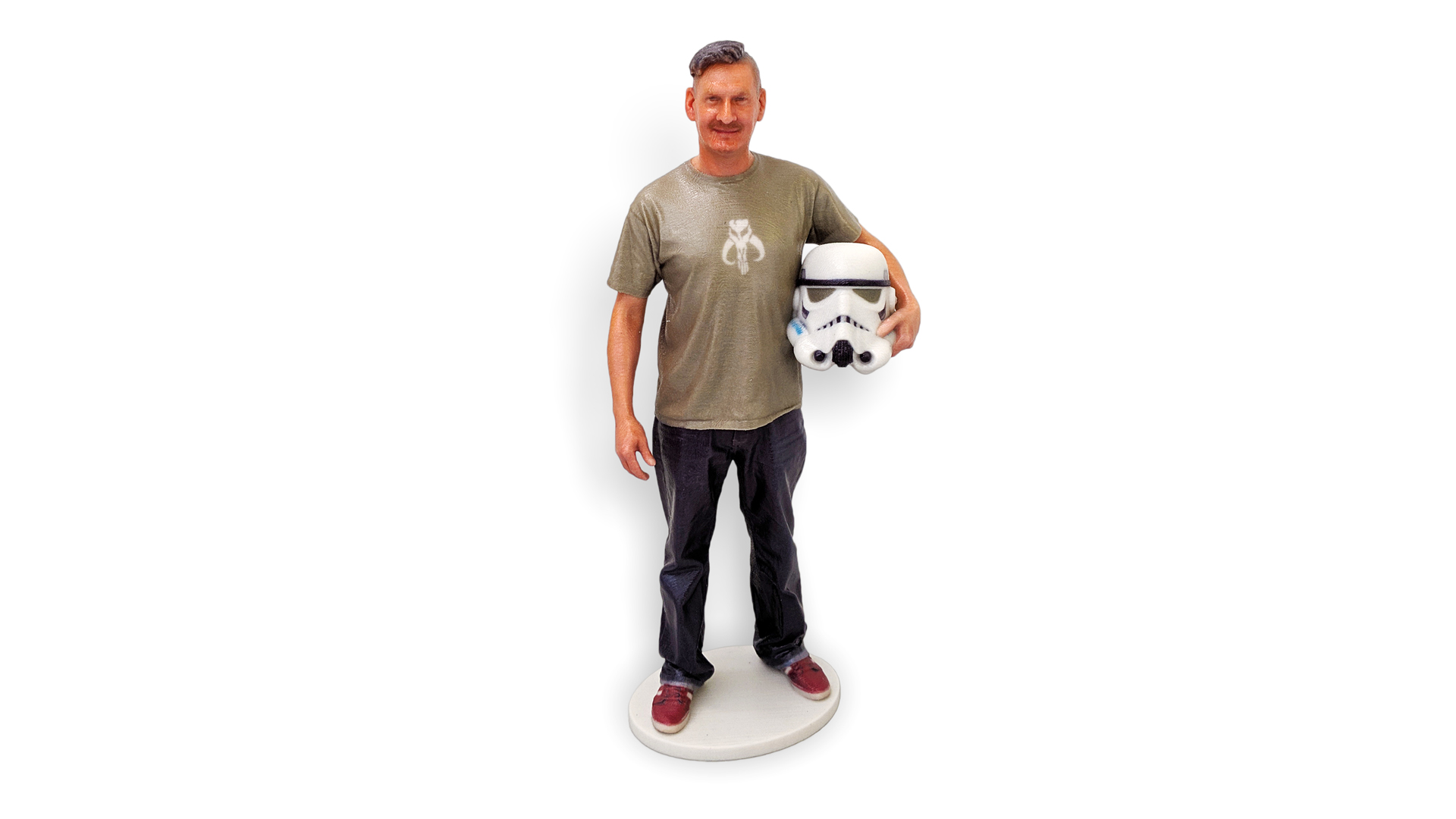my3Dtwin, 3D Printed Photofigurine of a guy with Storm Trooper Helmet