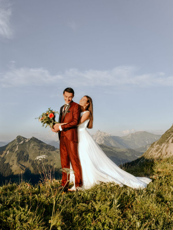 elopement in the mountains of switzerland