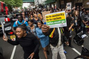 No to racism and austerity