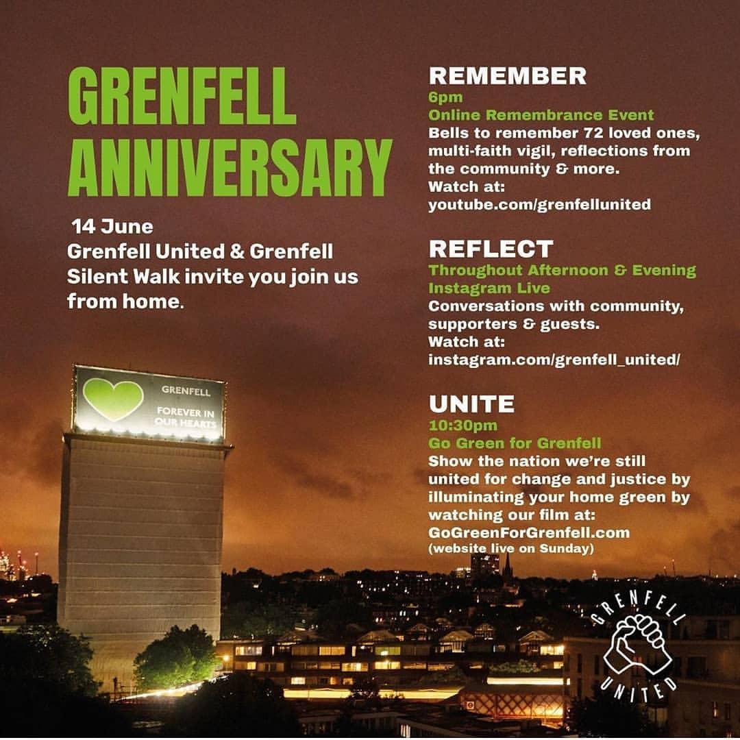 Grenfell third anniversary 14 June – silent walk
