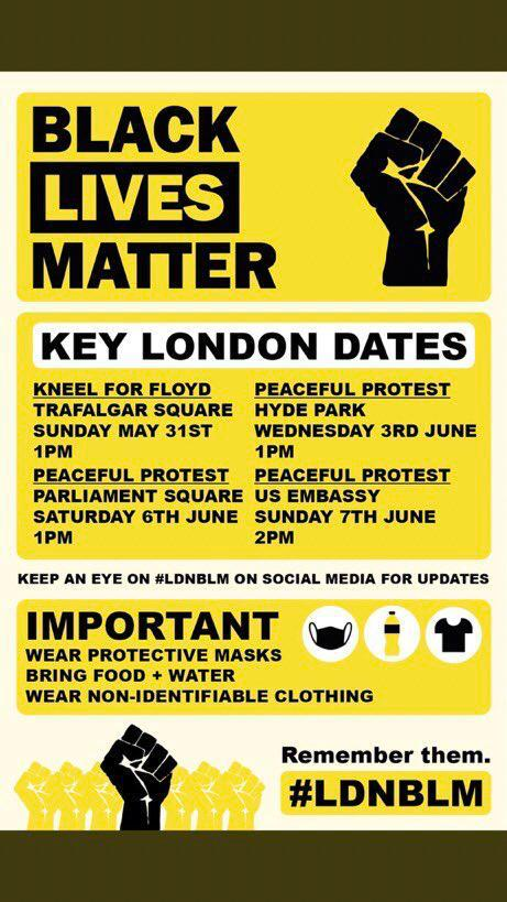London protests info
