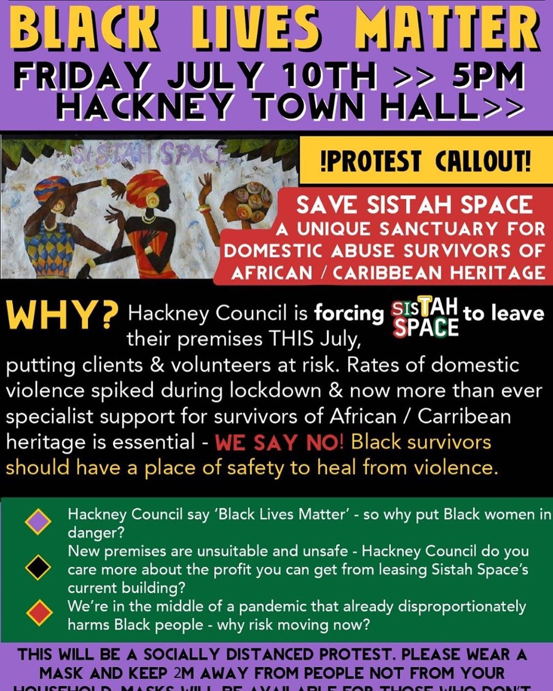 Hands off Sistah Space – defend services for women survivors of abuse
