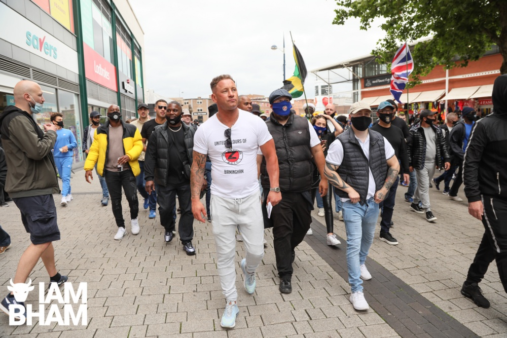 Birmingham City fans march against racism and for Trevor Smith shot dead by police