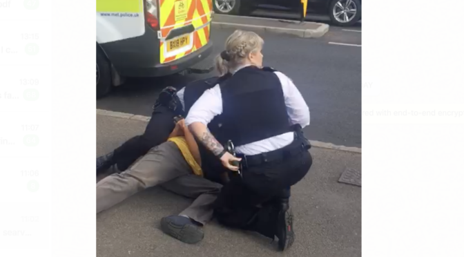 Video exclusive: violent stop and search arrest of Michael Wilson, 64, in Mitcham on 22 July