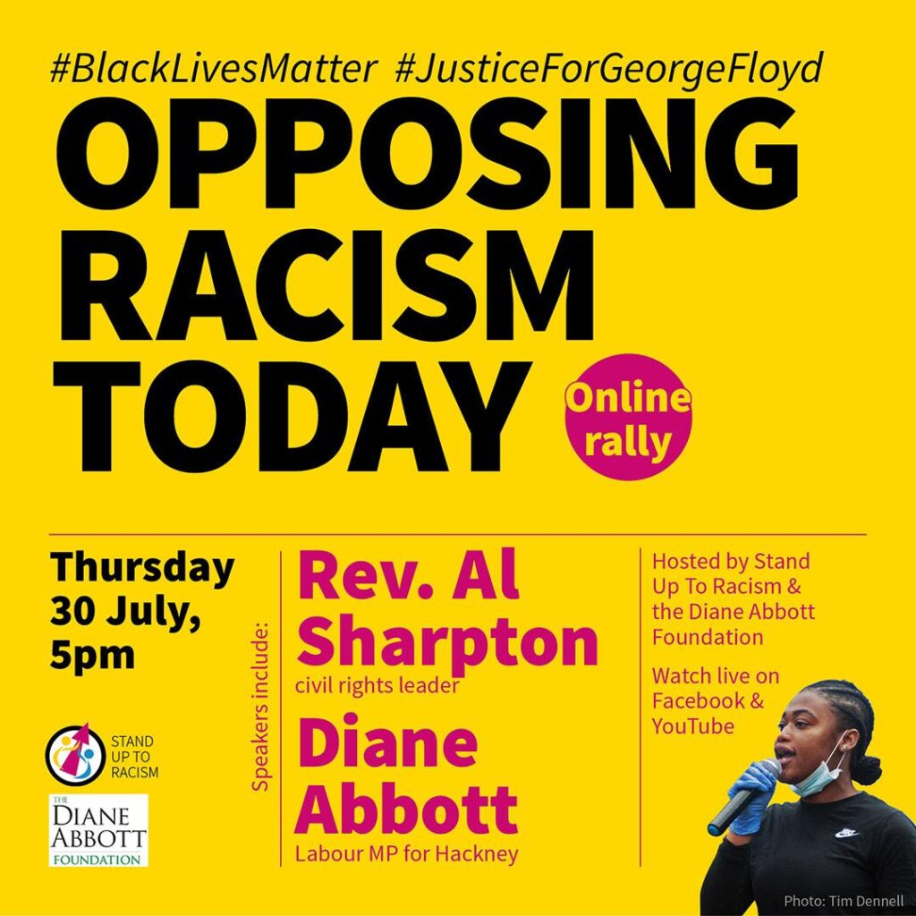Al Sharpton online meeting stand up to racism