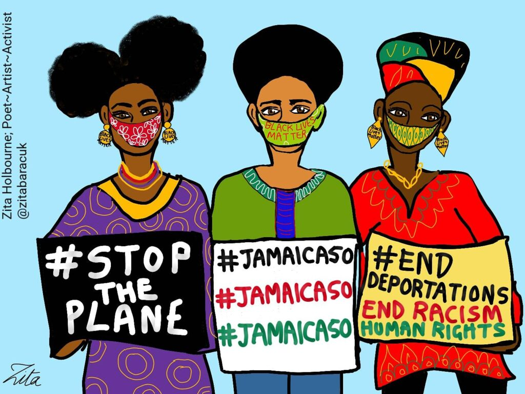 jamaica50 - art by Zita Holbourne - poet artist activist