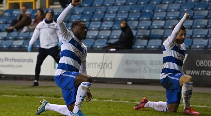 QPR players defy racists to take the knee after scoring against Millwall