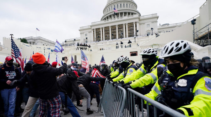 Trump coup attempt in motion as fascists storm Congress, police watch on