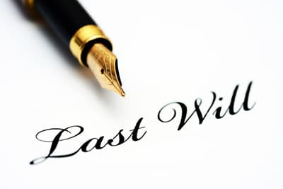 Image of a pen and the words Last will, for CJS Legal Services Ltd
