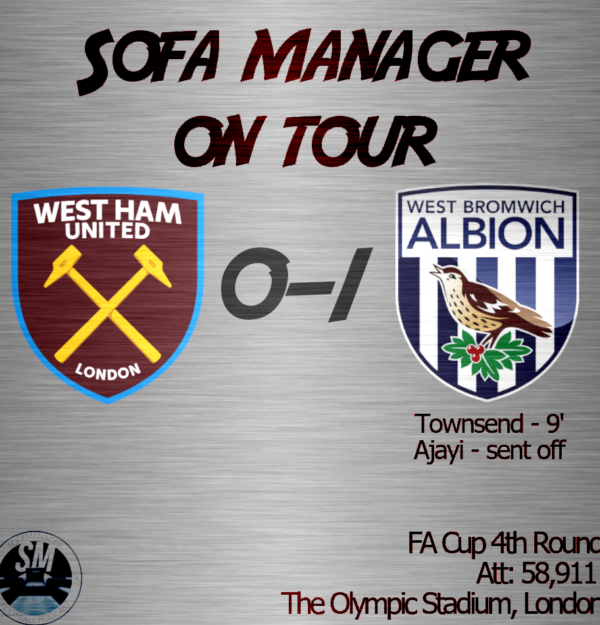 Sofa Manager On Tour: West Ham United vs West Brom
