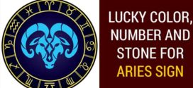 lucky color number and stone for aries sign