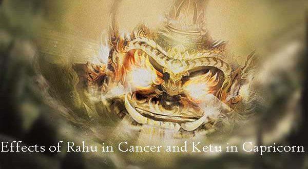 Rahu in cancer transit