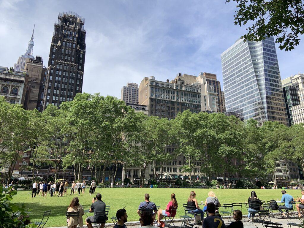 New York Itinerary- Bryant Park