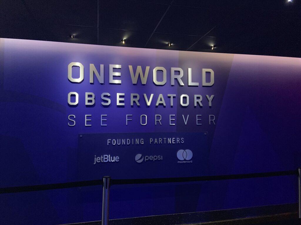 New York Itinerary- One World Observatory