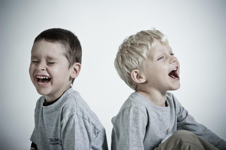 Happy children laughing
