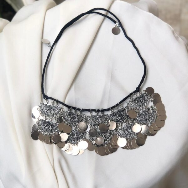 New double layer coin choker
