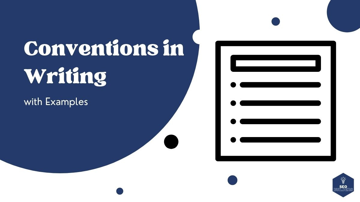 conventions in writing