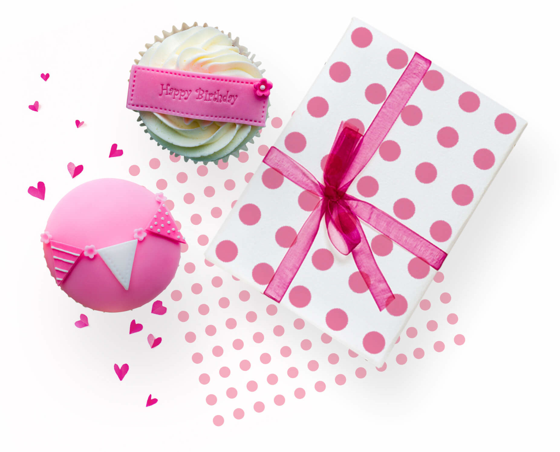 Birthday Cupcakes and Presents