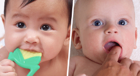 Clean your kids gums​ for dental health