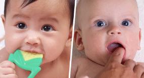 Clean your kids gums for dental health