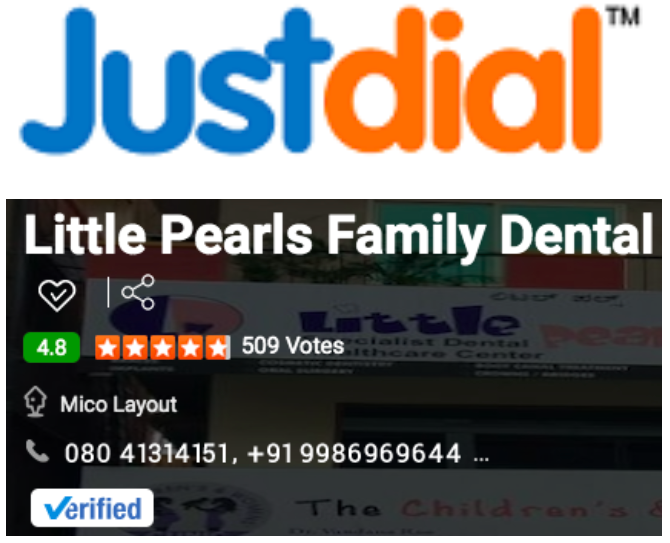 Reviews from the web Justdial Bangalore - Little Pearls Family Dental Healthcare center