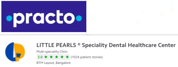 Reviews from the web - Practo verified feedbacks for Little Pearls Specialisty Dental Healthcare Center