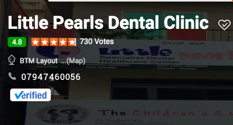 Reviews from the web Justdial Bangalore - Little Pearls Dental clinic
