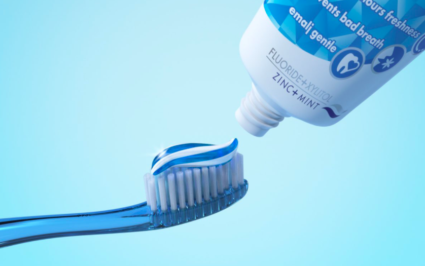 Fluoridated tooth paste