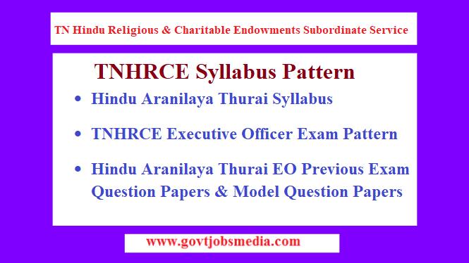 TNHRCE Executive Officer Syllabus
