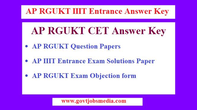 AP RGUKT Answer Key