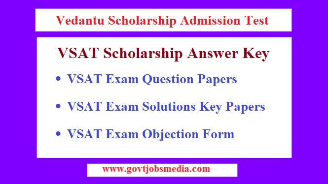 Vedantu Scholarship Admission Test Answer Key