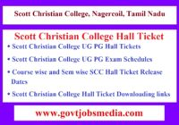 Scott Christian College Hall Ticket