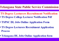 TSPSC Degree Lecturers Recruitment Notification