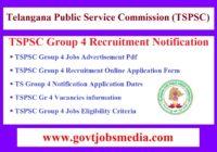 TSPSC Group 4 Recruitment Notification