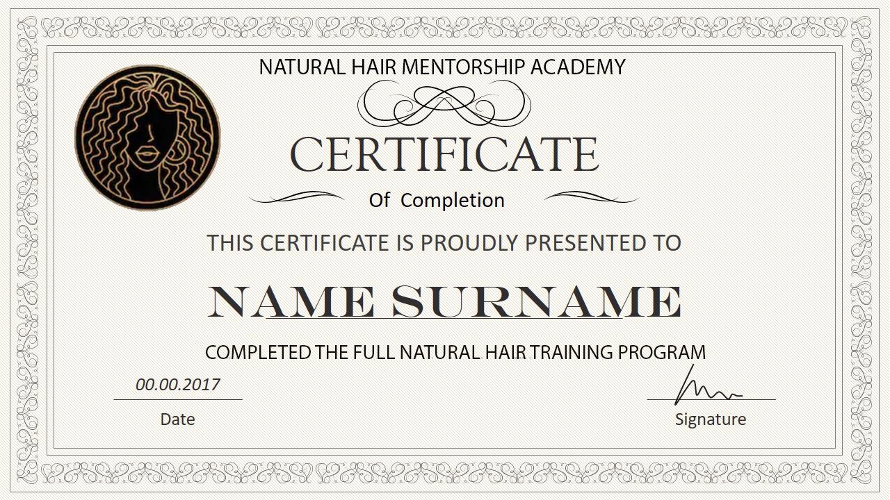 NATURAL HAIR CERT1