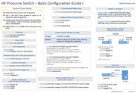 HP Procurve Switch Basic Configuration Guide I
