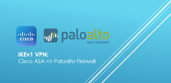 Configure IKEV1 Site to Site VPN between Cisco ASA and Paloalto Firewall