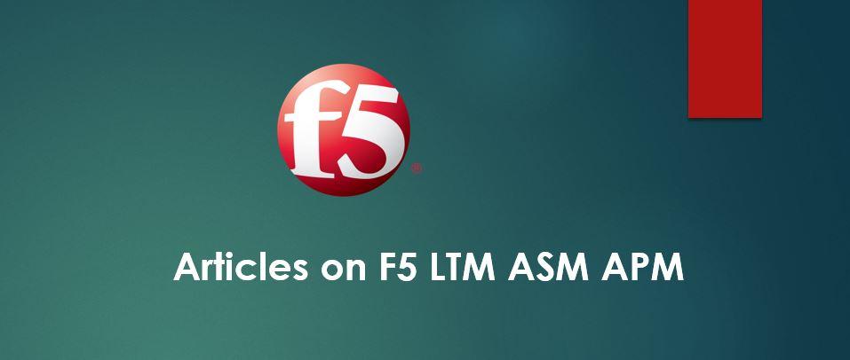 Configure F5 for Server Side SSL
