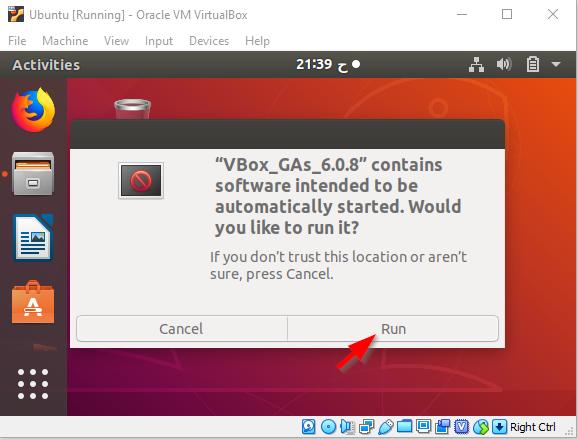 Ubuntu Install Guest Addition CD Image