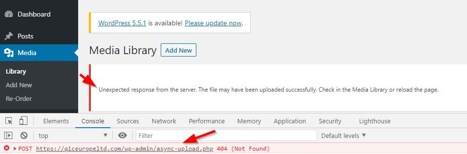 async-upload 404 not found