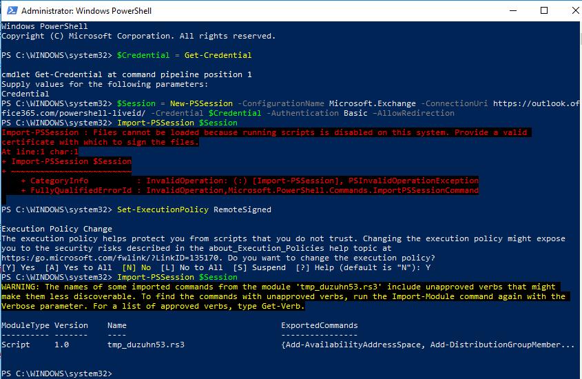 PowerShell_ExchangeOnline_RemoteSigned