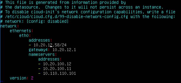 Ubuntu netplan
