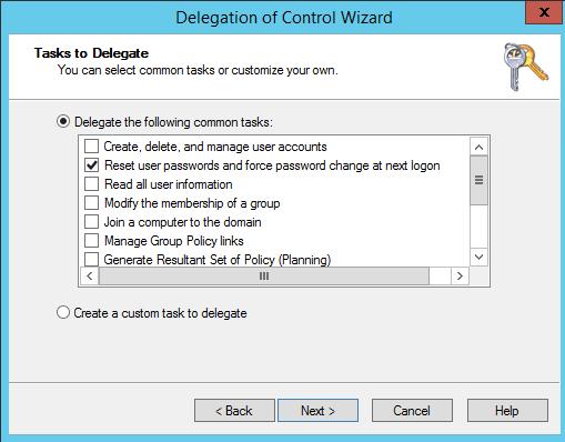 Delegate Password Reset Permission