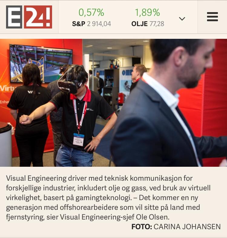 Visual Engineering demonstrating its gamified simulator at ONS 2018